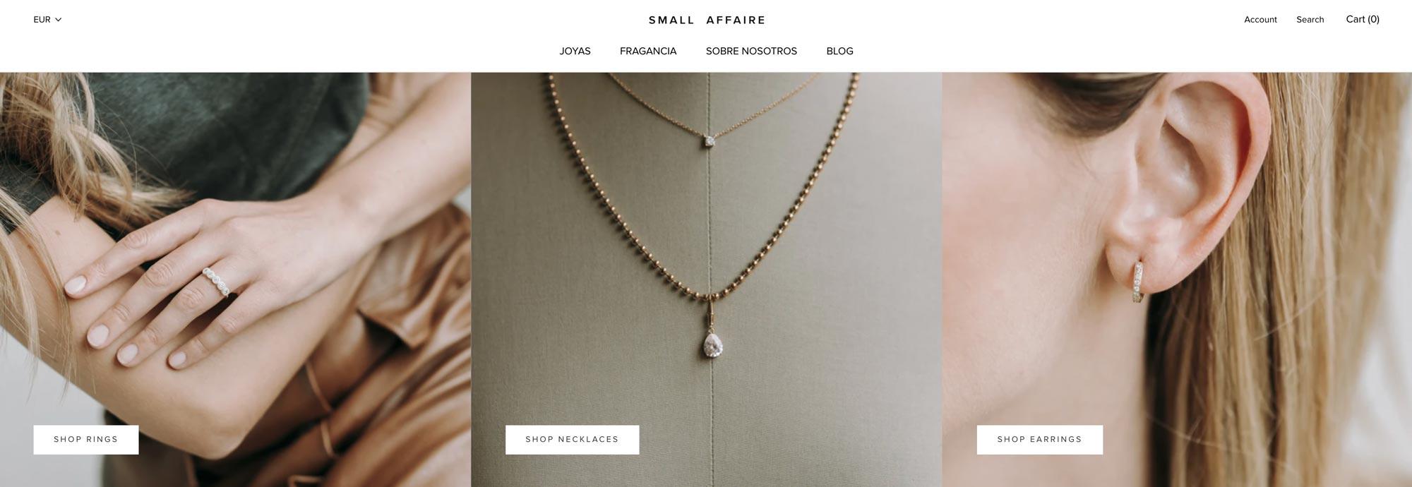 Shopify Small Affair